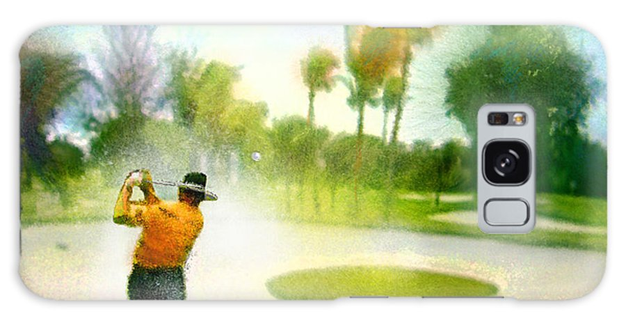 Golf Galaxy S8 Case featuring the painting Golf At The Blue Monster In Doral Florida 02 by Miki De Goodaboom