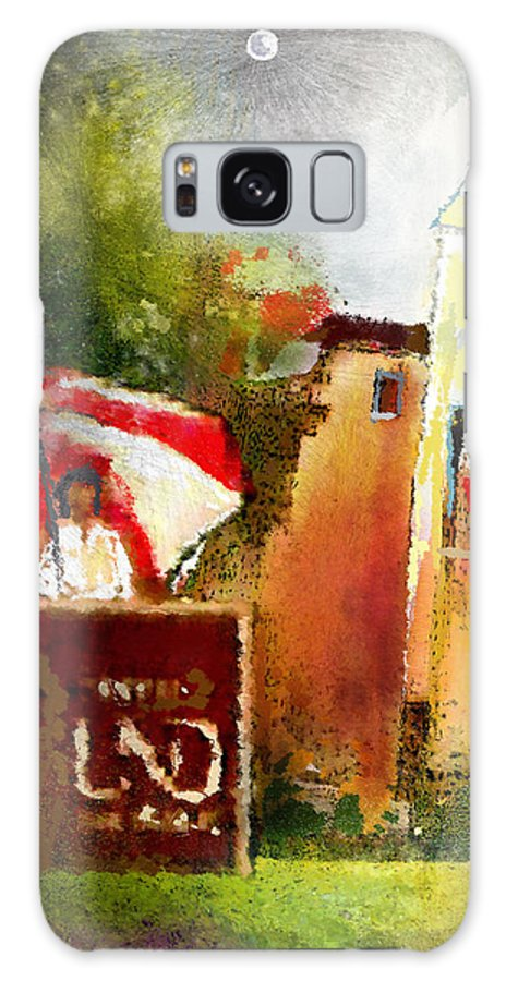 Golf Painting Golfer Sport Pga Tour Club Fontana Vienna Austria Austria Open Galaxy S8 Case featuring the painting Golf In Club Fontana Austria 01 Dyptic Part 02 by Miki De Goodaboom
