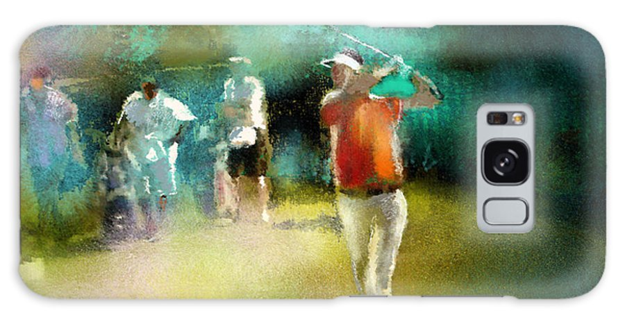 Golf Painting Golfer Sport Pga Tour Club Fontana Vienna Austria Austria Open Galaxy S8 Case featuring the painting Golf In Club Fontana Austria 03 by Miki De Goodaboom