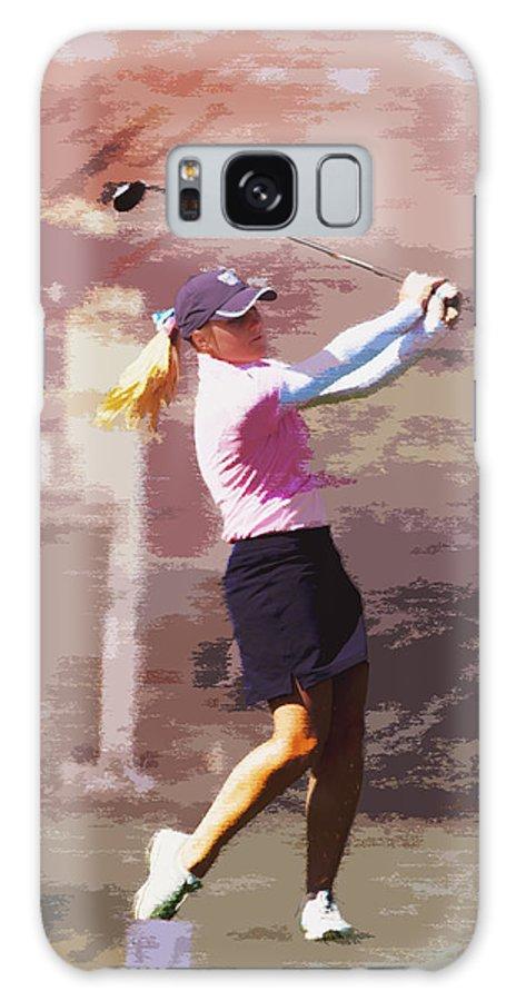 Golf Galaxy S8 Case featuring the photograph Golfer by David Haskett II