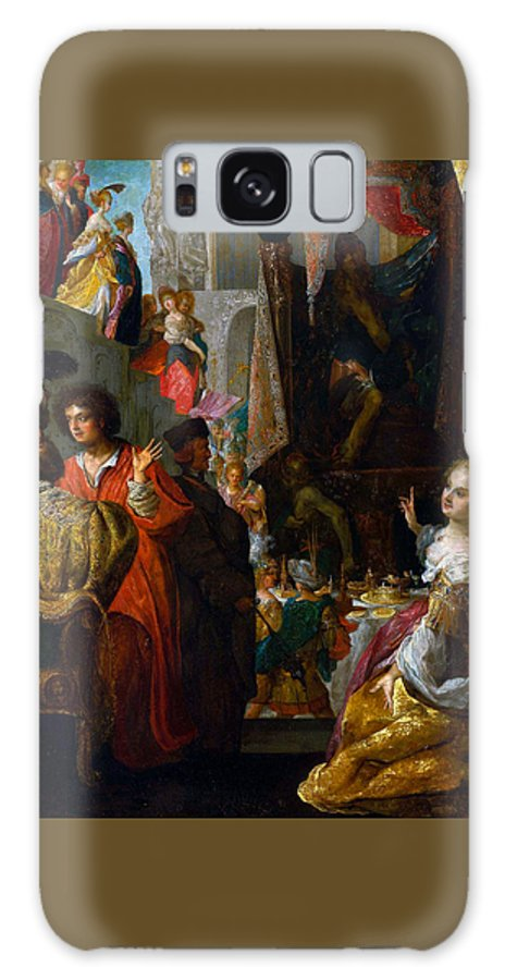 Bartholomaus Strobel Galaxy S8 Case featuring the painting Daniel And Cyrus Before The Idol Bel by Bartholomaus Strobel