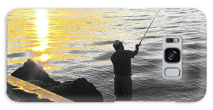 Fishing Galaxy Case featuring the photograph Gone Fishing by Larry Keahey
