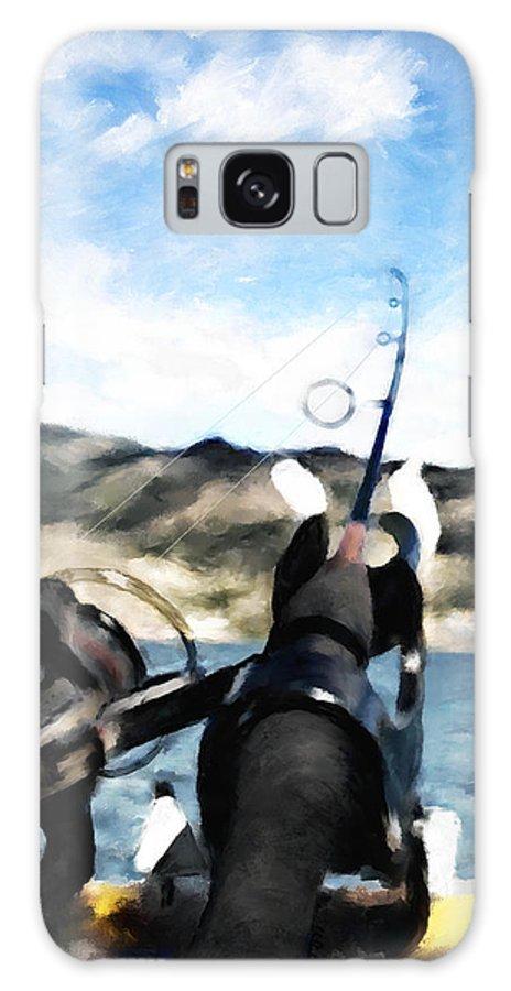 Fishing Pole Galaxy S8 Case featuring the digital art Gone Fishing by Susan Kinney
