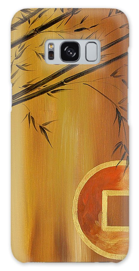 Asian Galaxy S8 Case featuring the painting Good Fortune Bamboo 2 by Dina Dargo