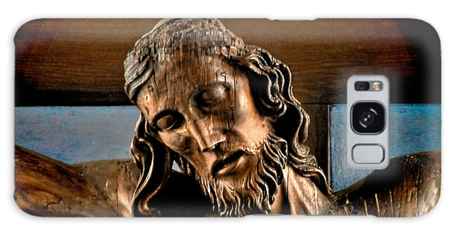 Easter Galaxy Case featuring the photograph Good Friday Jesus On The Cross by Christine Till