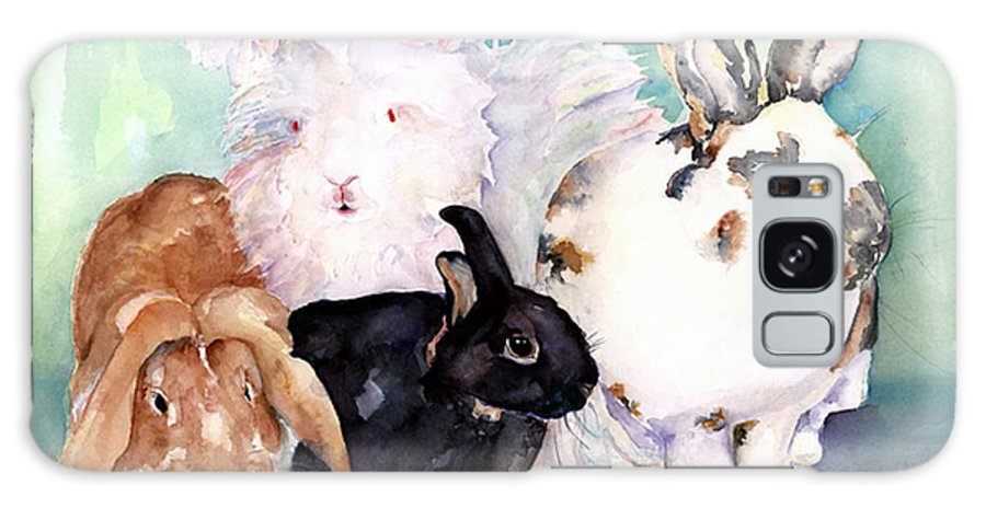 Animal Artwork Galaxy S8 Case featuring the painting Good Hare Day by Pat Saunders-White