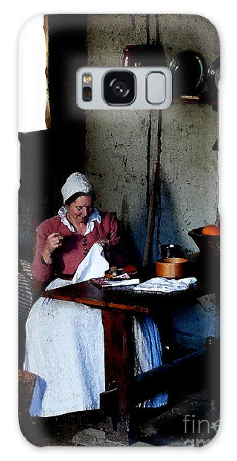 Pilgrim Galaxy S8 Case featuring the digital art Good Pilgrim Wife by Mark Grayden