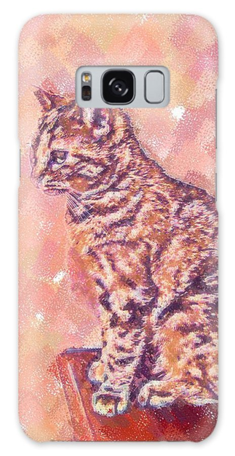 Cat Galaxy S8 Case featuring the digital art Good Tabby by Nora Martinez