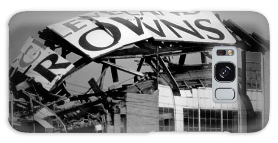 Cleveland Galaxy Case featuring the photograph Goodbye Cleveland Stadium by Kenneth Krolikowski