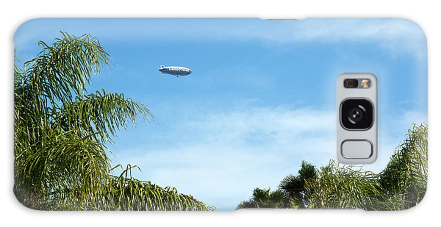 Goodyear Galaxy S8 Case featuring the photograph Goodyear Blimp Spirit Of Innovation In Florida by Allan Hughes
