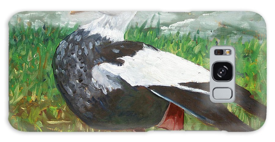 Goose Galaxy S8 Case featuring the painting Goose by D T LaVercombe