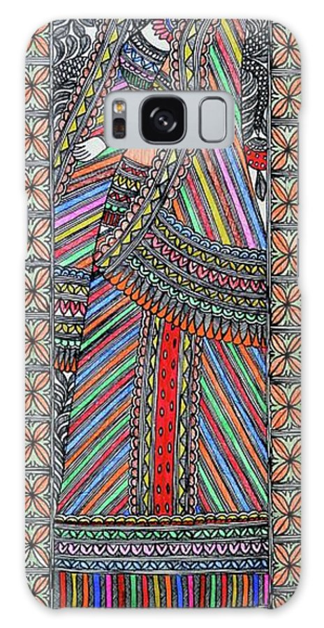 Galaxy S8 Case featuring the painting Gopi by Prerna