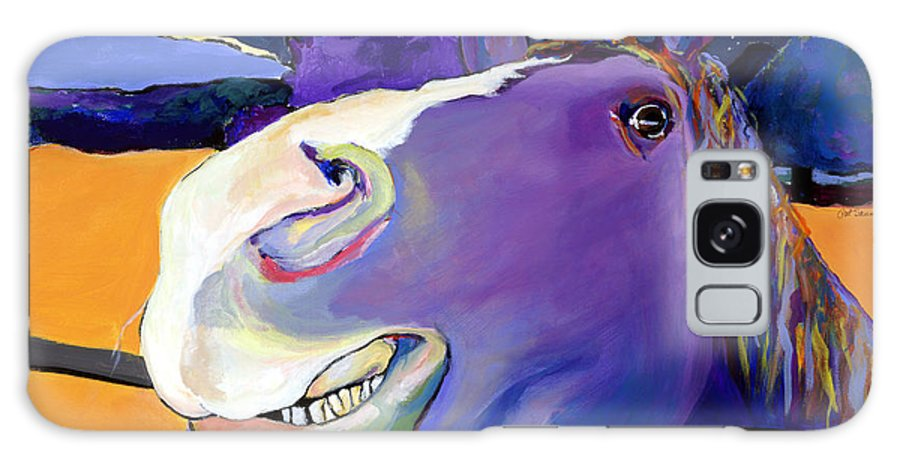 Barnyard Animal Galaxy S8 Case featuring the painting Got Oats   by Pat Saunders-White