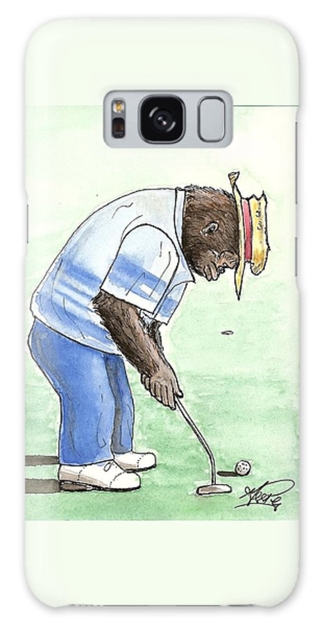 Golf Galaxy Case featuring the painting Got You Now by George I Perez