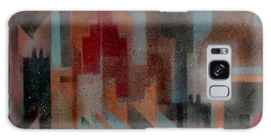 Abstract Galaxy Case featuring the painting Gothem City by Anita Burgermeister