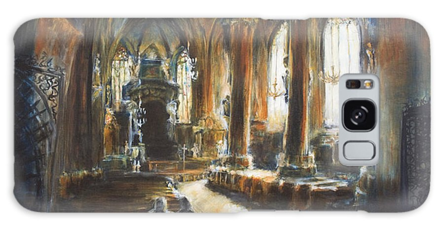 Church Galaxy S8 Case featuring the painting Gothic Church by Nik Helbig