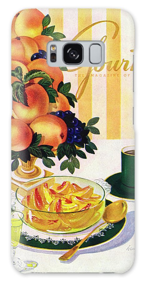 Illustration Galaxy S8 Case featuring the photograph Gourmet Cover Featuring A Centerpiece Of Peaches by Henry Stahlhut