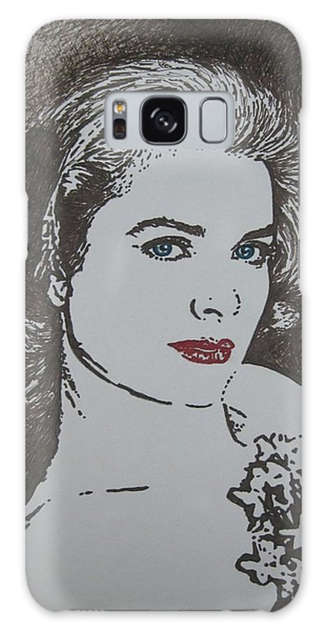 Grace Kelly Galaxy S8 Case featuring the drawing Grace by Lynet McDonald
