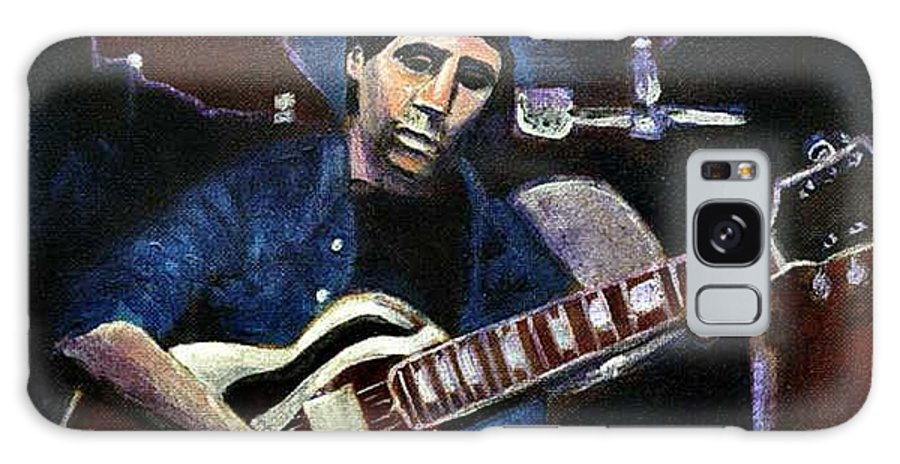 Shining Guitar Galaxy S8 Case featuring the painting Graceland Tribute To Paul Simon by Seth Weaver