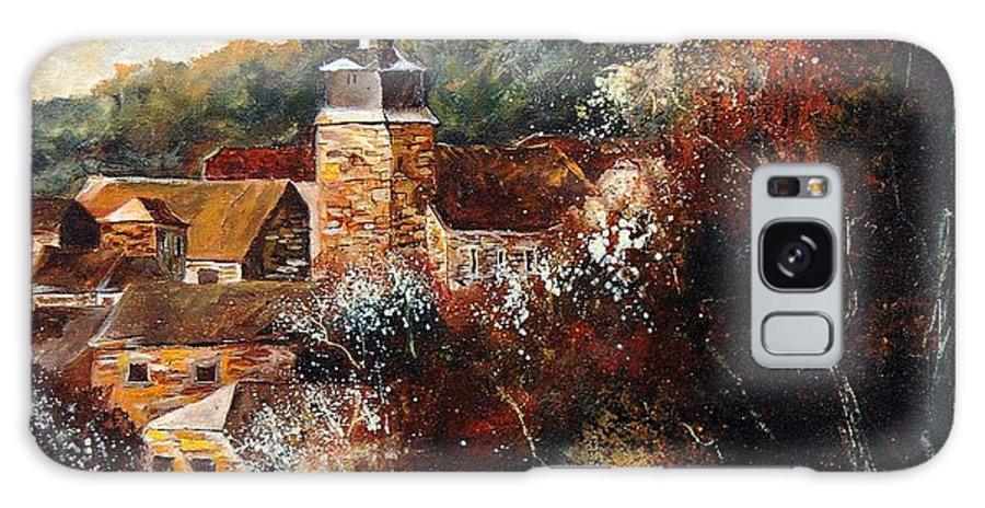 Village Galaxy S8 Case featuring the painting Graide Village Belgium by Pol Ledent
