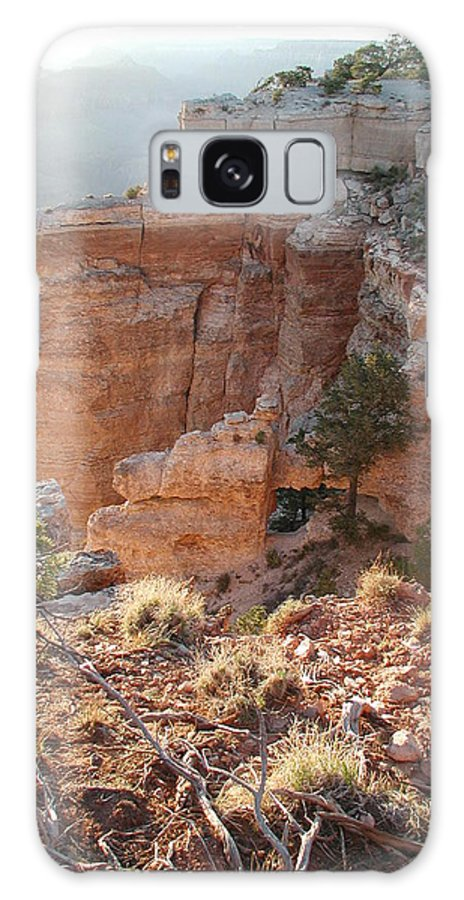 Canyon Galaxy S8 Case featuring the photograph Grand Canyon Bluff by Nancy Taylor
