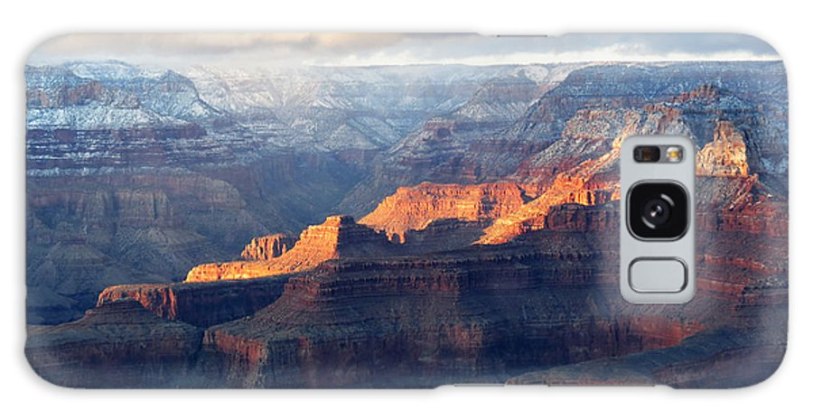 Grand Canyon Galaxy S8 Case featuring the photograph Grand Canyon With Snow by Laurel Powell