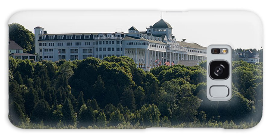Mackinac Galaxy S8 Case featuring the photograph Grand Hotel On Mackinac Island by Wesley Farnsworth