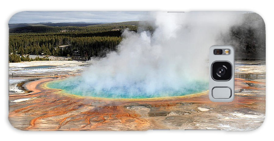 Grand Galaxy S8 Case featuring the photograph Grand Prismatic Springs In Yellowstone National Park by Pierre Leclerc Photography