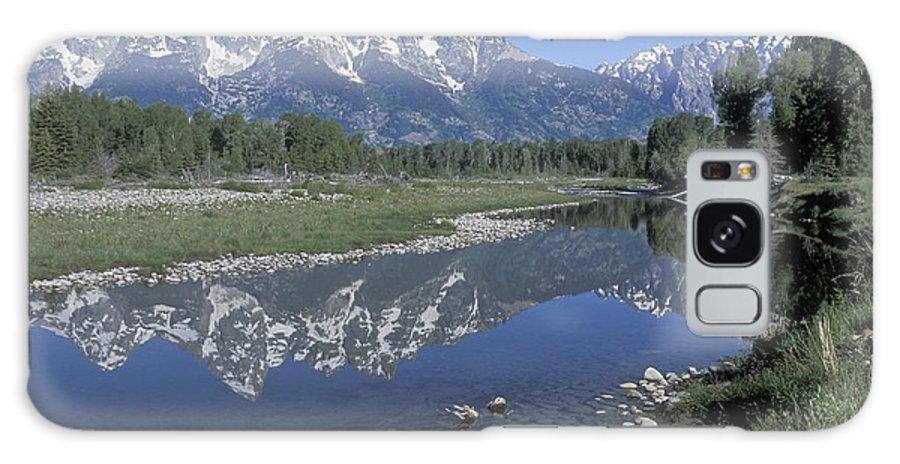 Grand Teton Galaxy S8 Case featuring the photograph Grand Teton Reflection At Schwabacher Landing by Sandra Bronstein