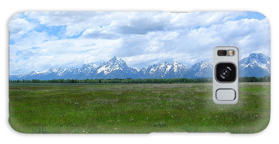 Grand Tetons Galaxy S8 Case featuring the photograph Grand Tetons Meadow by George Jones