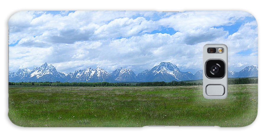 Grand Galaxy S8 Case featuring the photograph Grand Tetons Meadow Panarama by George Jones