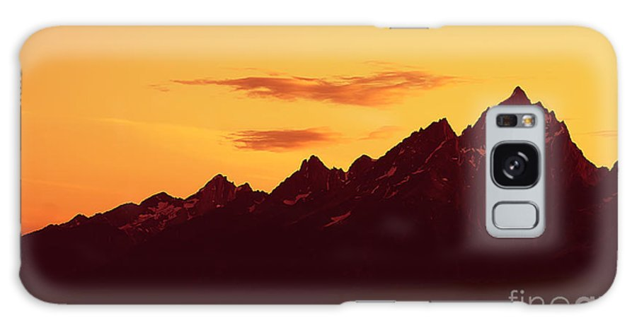 Mountains Galaxy S8 Case featuring the photograph Grand Tetons Sunset by Teresa Zieba