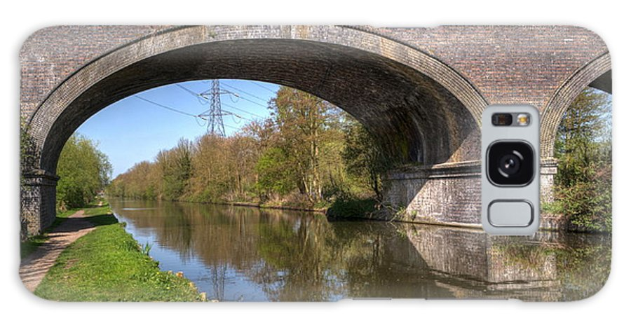 Bridge Galaxy S8 Case featuring the photograph Grand Union Canal Bridge 181 by Chris Day