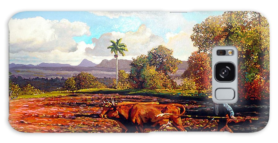 Cuban Art Galaxy S8 Case featuring the painting Grandfather Farm by Jose Manuel Abraham