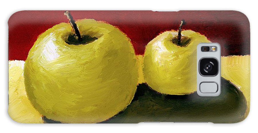 Apple Galaxy S8 Case featuring the painting Granny Smith Apples by Michelle Calkins