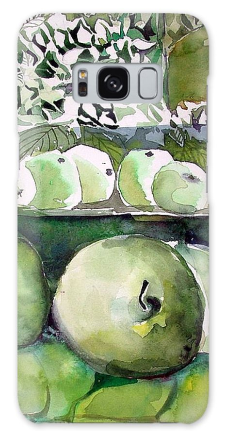 Apple Galaxy S8 Case featuring the painting Granny Smith Apples by Mindy Newman