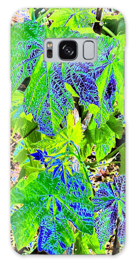 Grape Leaves Galaxy S8 Case featuring the digital art Grape Leaves by Will Borden