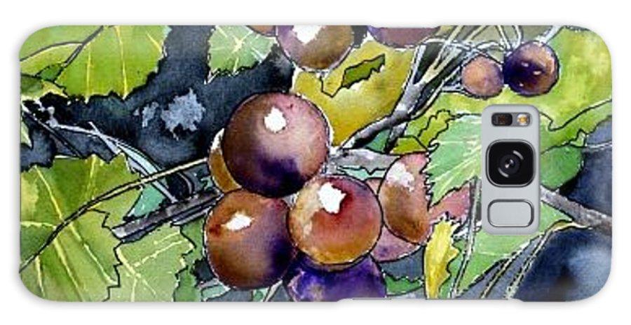 Grape Galaxy S8 Case featuring the painting Grape Vine Still Life by Derek Mccrea