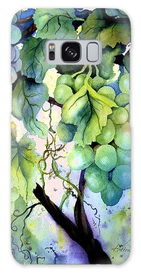 Grapes Galaxy S8 Case featuring the painting Grapes II by Karen Stark