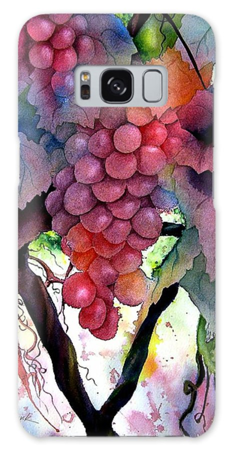 Grape Galaxy S8 Case featuring the painting Grapes IIi by Karen Stark