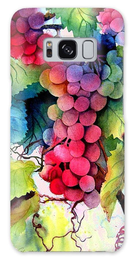 Grapes Galaxy S8 Case featuring the painting Grapes by Karen Stark