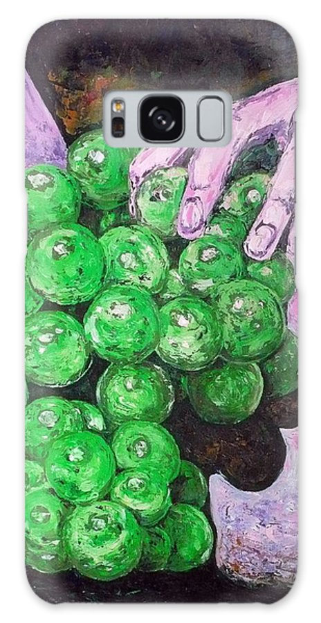 Fruits Galaxy S8 Case featuring the painting Grapes On Butt by Ericka Herazo