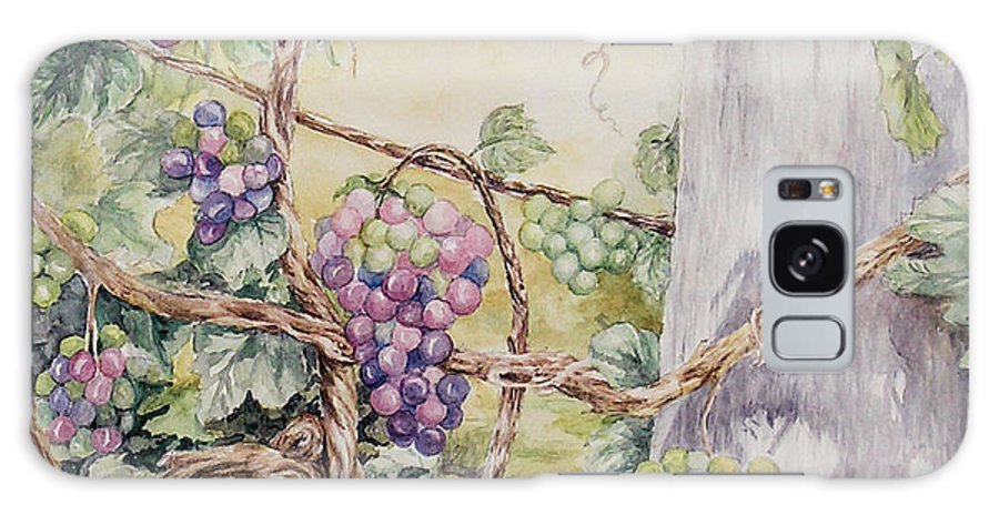 Vines Galaxy S8 Case featuring the painting Grapevine Laurel Lakevineyard by Valerie Meotti