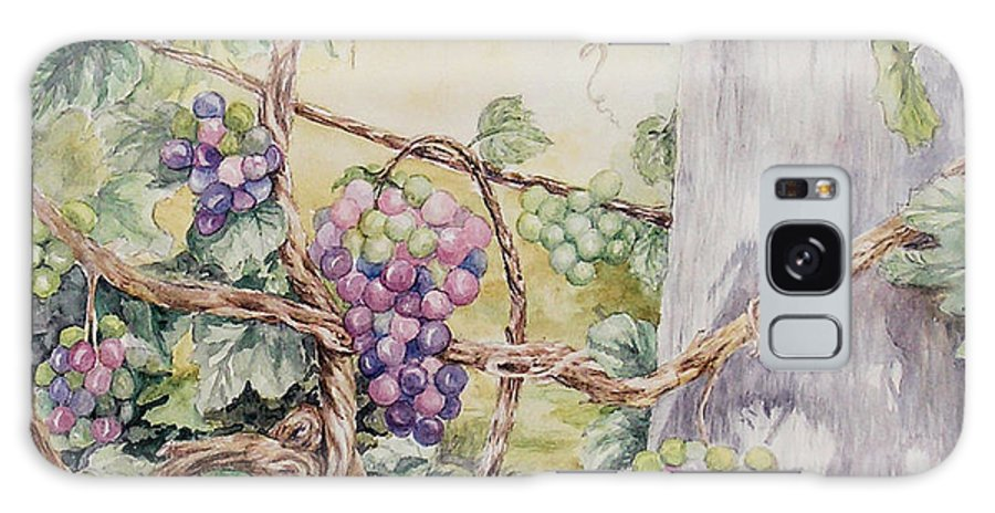 Vines Galaxy Case featuring the painting Grapevine Laurel Lakevineyard by Valerie Meotti