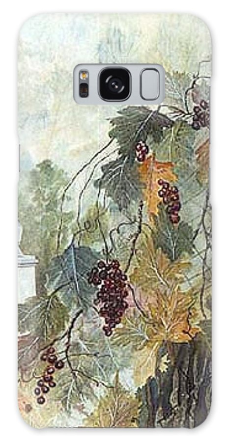 Fruit Galaxy S8 Case featuring the painting Grapevine Topiary by Ben Kiger