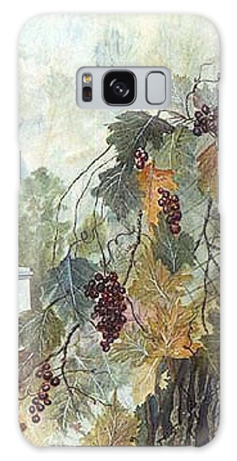 Fruit Galaxy Case featuring the painting Grapevine Topiary by Ben Kiger