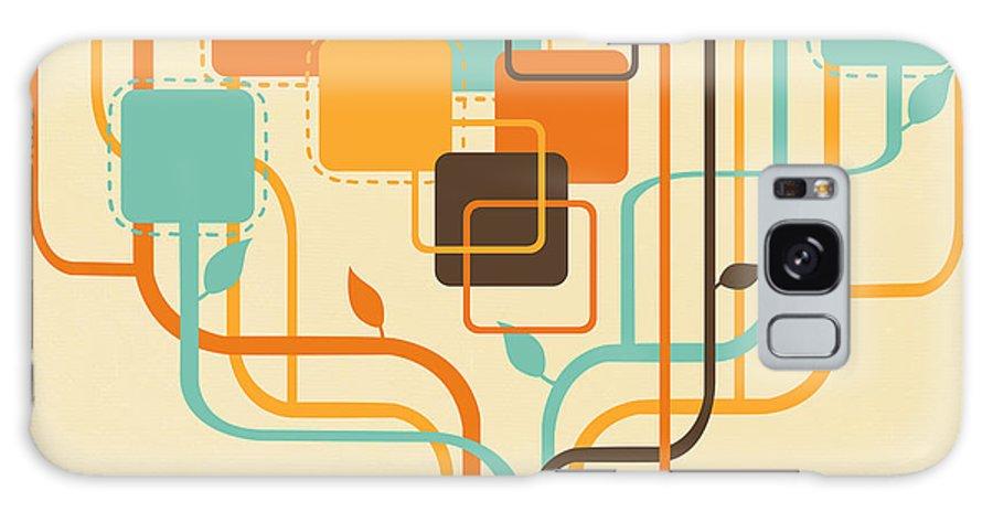 Art Galaxy S8 Case featuring the painting Graphic Tree by Setsiri Silapasuwanchai