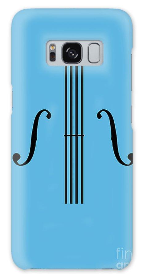 Violin Galaxy S8 Case featuring the digital art Graphic Violin by Benjamin Harte