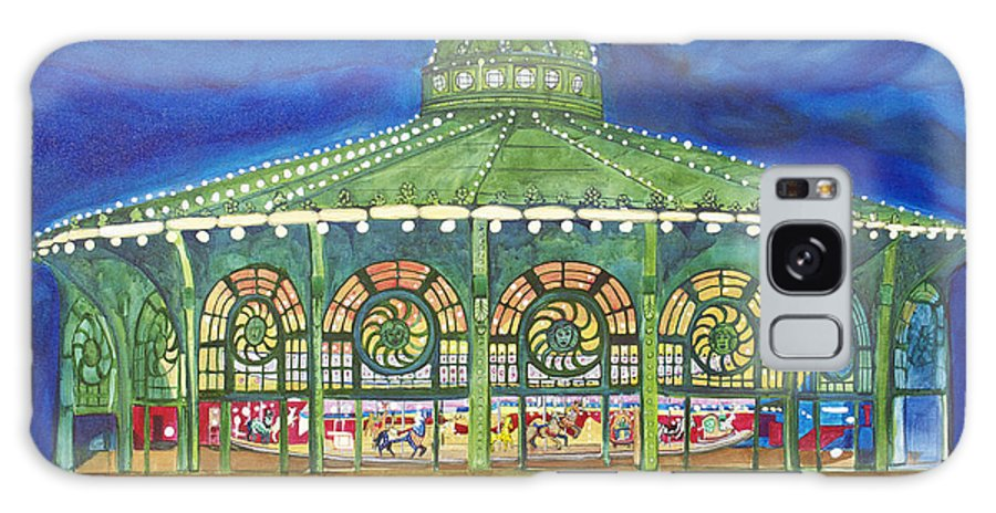 Night Paintings Of Asbury Park Galaxy Case featuring the painting Grasping The Memories by Patricia Arroyo