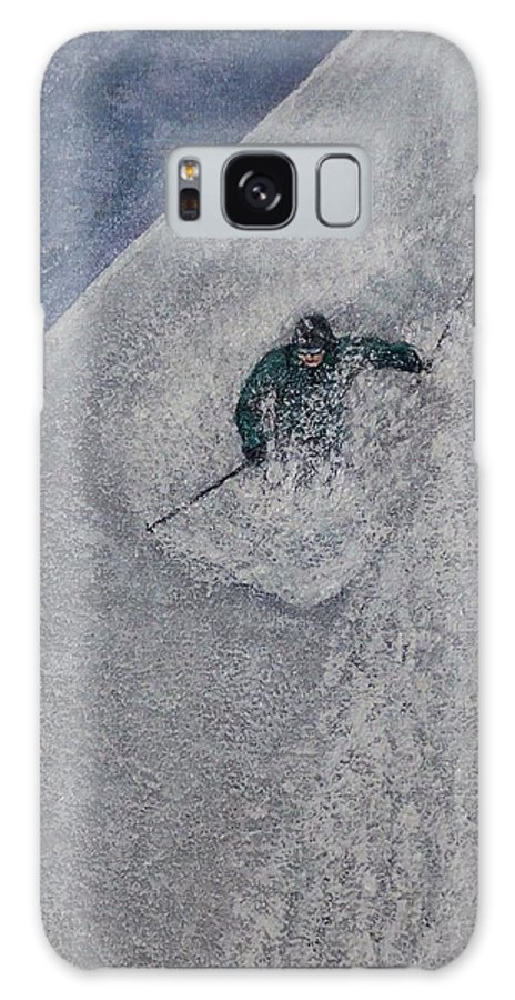 Ski Galaxy S8 Case featuring the painting Gravity by Michael Cuozzo